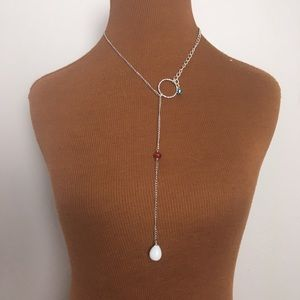 Handmade drop chain necklace, jewelry